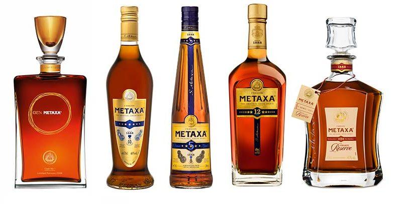 Metaxa fľaše